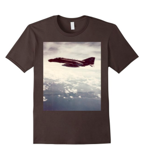 Brown F-4 in flight shirt
