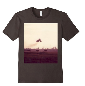 brown F-4 on final shirt